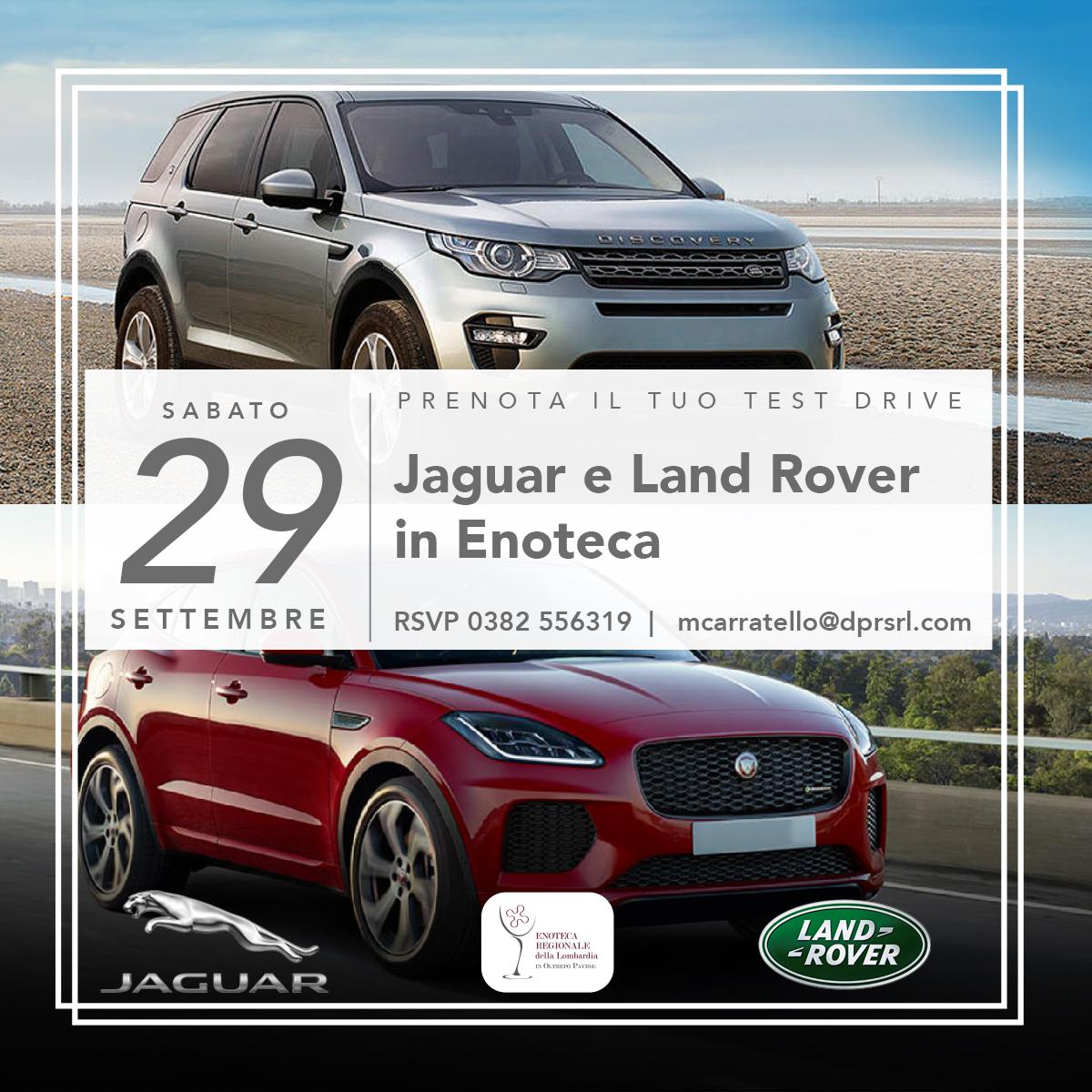 Jaguar e Land Rover in Enoteca