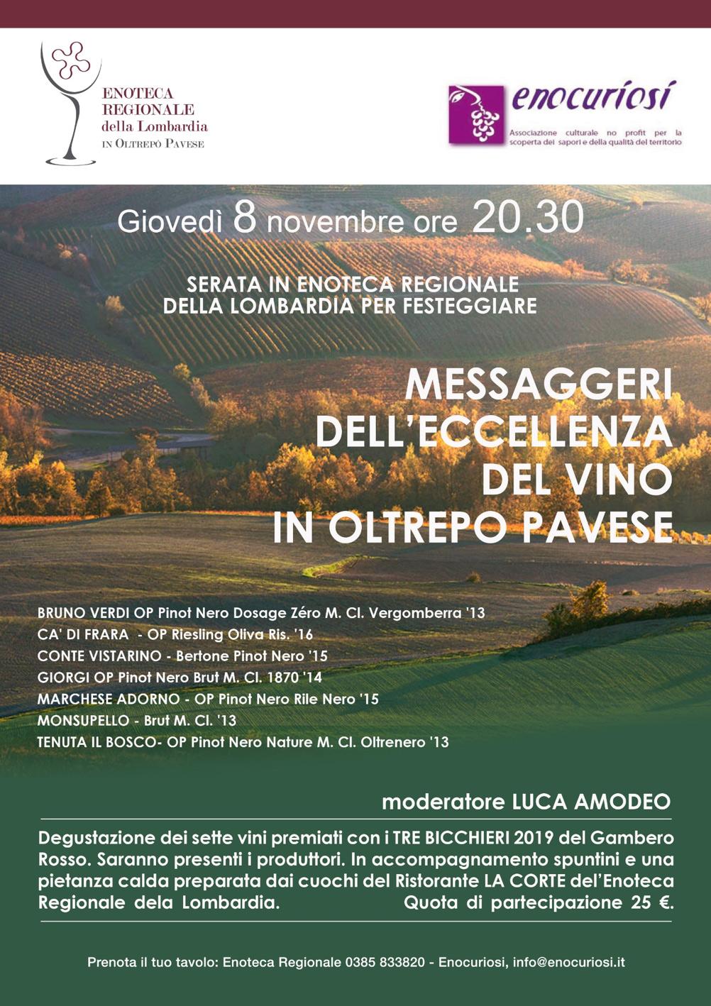 Messaggeri dell'eccellenza del vino in Oltrepò pavese