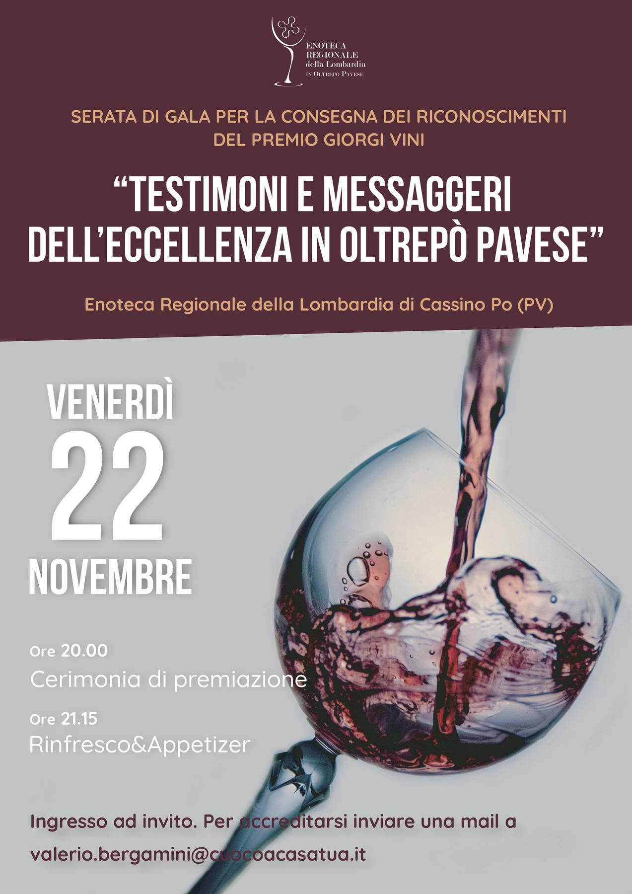 Testimoni e messaggeri dell'eccellenza in Oltrepò Pavese